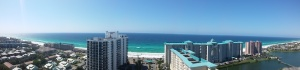 The view for our vacation in Miramar Beach, Destin, FL